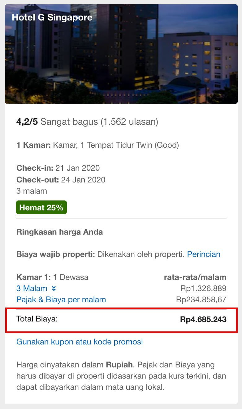 Expedia Direct Price