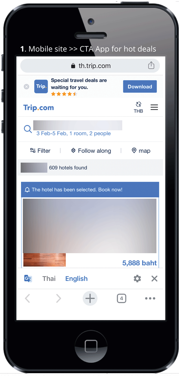 Ctrip | Mobile, Booking Window 6-10